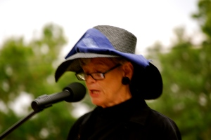 maggy speaking at our funeral for the river