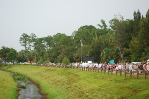 people marching at the locks