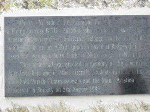 plaque at crash site